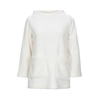 EUROPEAN CULTURE スウェットシャツ アイボリー XS ポリエステル 65% / レーヨン 35% スウェットシャツ