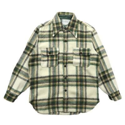 70年代 USA製 CPO ウールシャツ チェック サイズ表記:M