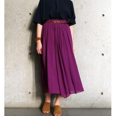 【リエス/Liesse】 ウエストゴムロングギャザースカート