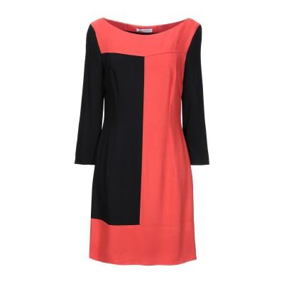 FLAVIO CASTELLANI ミニワンピース&ドレス オレンジ 44 レーヨン 57% / PBT ポリブチレンテレフタレート 43% ミニワ