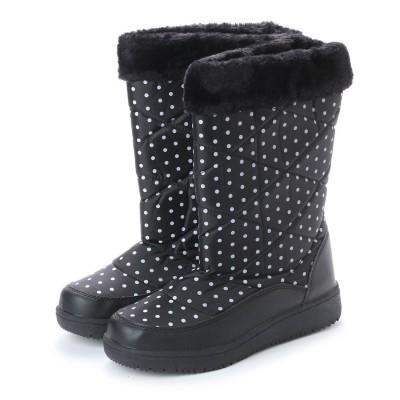 エニーウォーク Anywalk 防寒ブーツ ボア付き保温効果の高いニット素材使用・aw_17688(ブラック) (BLACK)