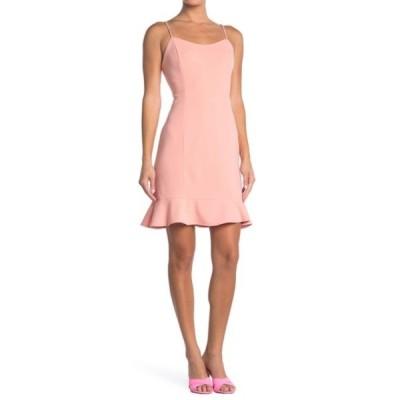 ベッツィジョンソン レディース ワンピース トップス Scuba Crepe Mini Dress (Regular & Plus Size) PEACH