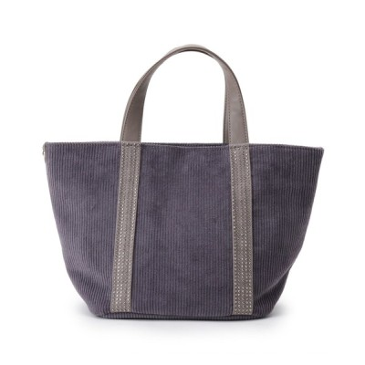 SHOO・LA・RUE / ラインストーンコーデュロイトートバッグ WOMEN バッグ > トートバッグ