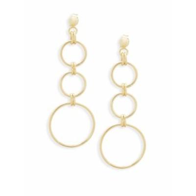サックスフィフスアベニュー レディース ジュエリー 14K Yellow Gold Triple Drop Earrings