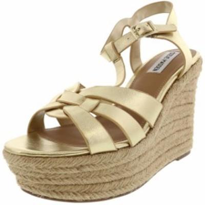 Madden メデン ファッション サンダル Steve Madden Womens Keesha Leather Ankle-High Wedged Sandal