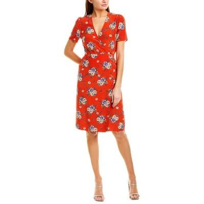 ユミキム ワンピース トップス レディース YUMI KIM Silk Wrap Dress daisy bouquet red