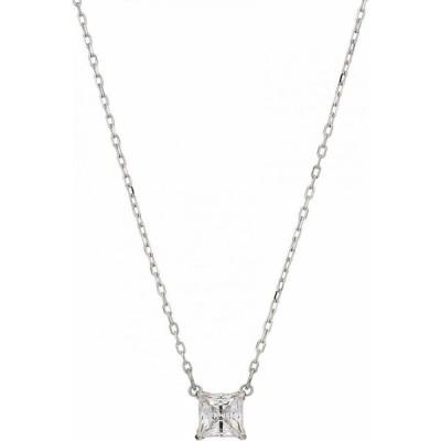 スワロフスキー Swarovski レディース ネックレス ジュエリー・アクセサリー Attract Square Pendant Necklace CZ White