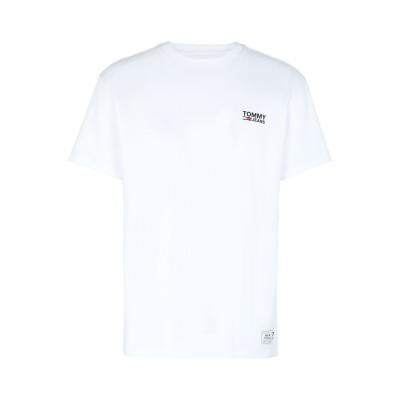 TOMMY JEANS T シャツ ホワイト S コットン BCI 100% T シャツ