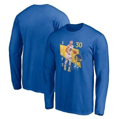 ステフィン・カリー ウォリアーズ NBA Tシャツ メンズ 長袖 ロンT Pick and Roll Long Sleeve T-Shirt ロイヤル