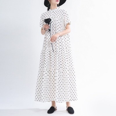 ドレス サン プリント ビンテージ 秋 カジュアル おしゃれ かわいい セクシー 大人