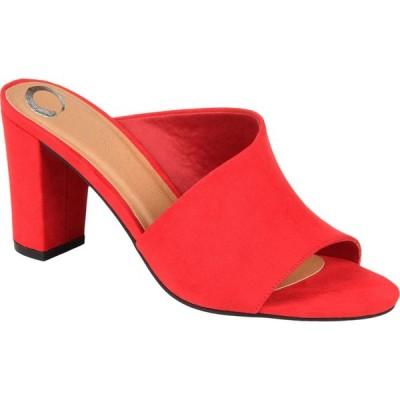 ジュルネ コレクション Journee Collection レディース サンダル・ミュール シューズ・靴 Comfort Foam(TM) Allea Slide Red