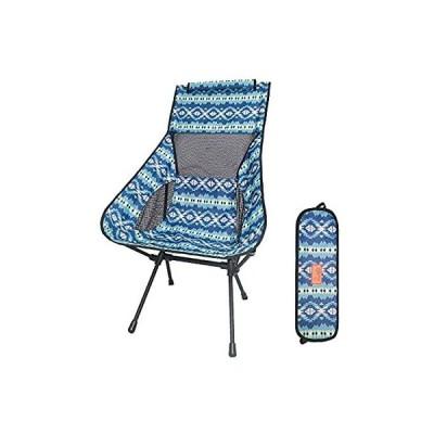 DesertFox アウトドアチェア 折りたたみ 超軽量【ハイバック】【耐荷重150kg】コンパクト イス 椅子 収納袋付属 お釣り 登山 携帯便利
