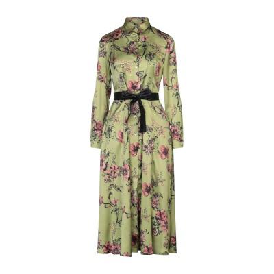 BIANCOGHIACCIO 7分丈ワンピース・ドレス ミリタリーグリーン 40 ポリエステル 100% 7分丈ワンピース・ドレス