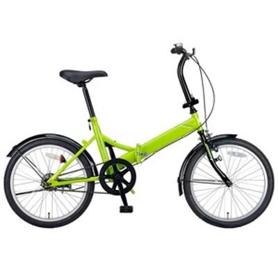 キャプテンスタッグ 折りたたみ自転車 クエント FDB201 折り畳み自転車 20インチ 1段変速 軽量  20インチ  グリーン