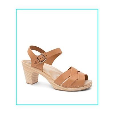 Sandgrens Swedish High Rise Wooden Heel Clog Sandals for Women, US 9-9.5   Rio Grande Nude Veg, EU 40【並行輸入品】