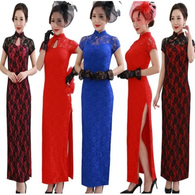 小さい新鮮な アオザイ  2020新品発売 韓国ファッション  スリムフィット レース  おしゃれな  気質  エレガント  改良版  ワンピース