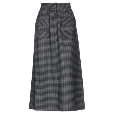 ULTRA'CHIC ロングスカート グレー 42 ウール 100% ロングスカート