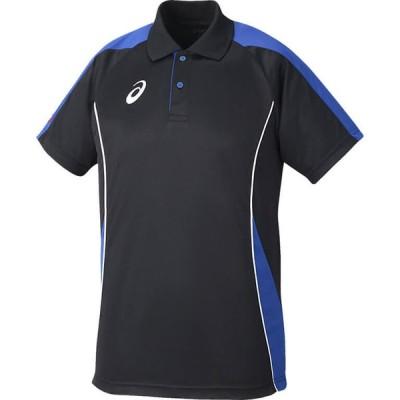 【1点までメール便可】 [asics]アシックス 男女兼用卓球ゲームシャツ ゲームシャツHS (XK1061)(9045) ブラック/ブルー