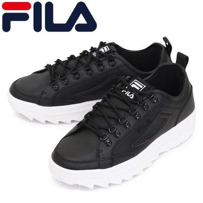 FILA (フィラ) F5183-0013 ディスラプター コート スニーカー ブラックxホワイト FI008