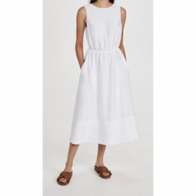 ヴィンス Vince レディース ワンピース ノースリーブ ワンピース・ドレス Sleeveless Cross Back Dress Optic White