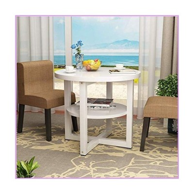 KFDQ Small Household Table,Round Coffee Table 2 Layer Living Room Table with Storage Home Furniture Simple Modern Side Table Living Room Sma