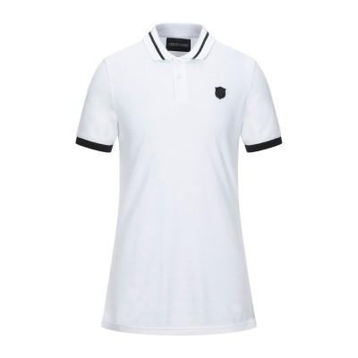 ロベルト カヴァリ ROBERTO CAVALLI ポロシャツ ホワイト M コットン 100% ポロシャツ
