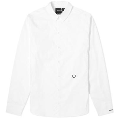 フレッドペリー Fred Perry x Raf Simons メンズ シャツ ラフシモンズ トップス Fred Perry Reissues x Raf Simons Slim Fit Shirt White