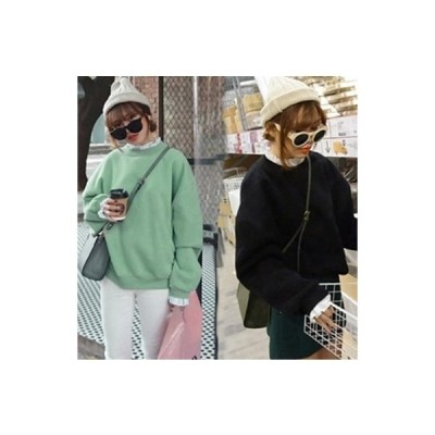 カジュアル ニット セーター おしゃれ 秋冬 暖か レディース グリーン ブラック