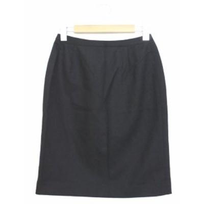 【中古】ビッキー VICKY ベネフィット benefit タイトスカート スカート 無地 ひざ丈 1 ブラック 黒 /YT22 レディース