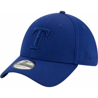 ニューエラ メンズ 帽子 アクセサリー New Era Men's Texas Rangers Blue 39Thirty Perftone Stretch Fit Hat