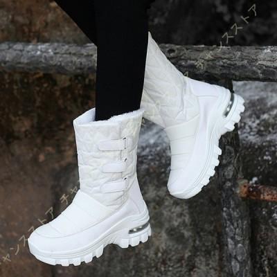 防寒 ウインターブーツ 5.5センチヒール レディース ブーツ あったか スリッポン 軽い 快適 痛くない 厚底 歩きやすい コットンブーツ 滑らない 防寒ブーツ