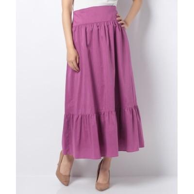 【アルアバイル/allureville】 【Loulou Willoughby】ポリエステルリネンギャザースカート