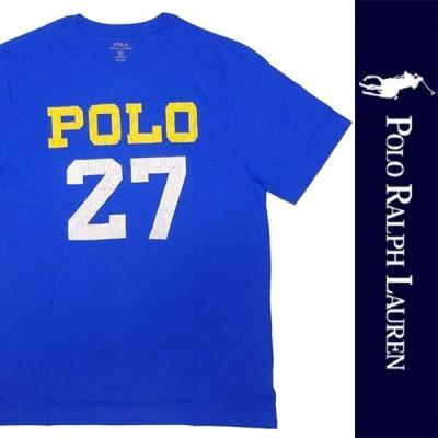 新品 POLO RALPH LAUREN BOYS ポロ ラルフローレン ボーイズ 半袖Tシャツ ブルー コットン カットソー RL 正規品