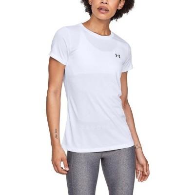 UNDER ARMOUR アンダーアーマー UA TECH SSC - SOLID 1358592 100 レディーススポーツウェア Tシャツ レディース 100