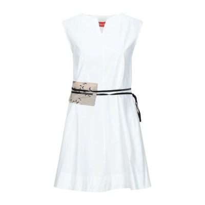 VIRGINIA BIZZI ミニワンピース&ドレス ライトイエロー 40 コットン 100% ミニワンピース&ドレス