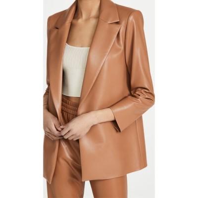 アリス アンド オリビア alice + olivia レディース スーツ・ジャケット アウター Dunn Vegan Leather Blazer Camel