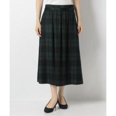OLD ENGLAND(オールドイングランド)ウールレーヨンツィードスカート