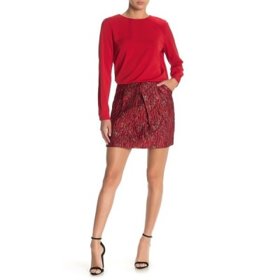 フレンチ レディース スカート ボトムス Gold Splash Mini Skirt RED