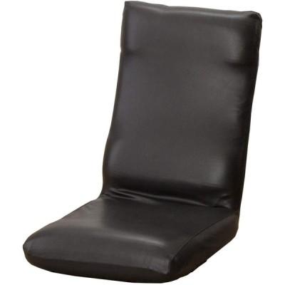 セシール ソファカバー ブラック 座椅子カバーM レザー調ストレッチ 座椅子用 CT-552