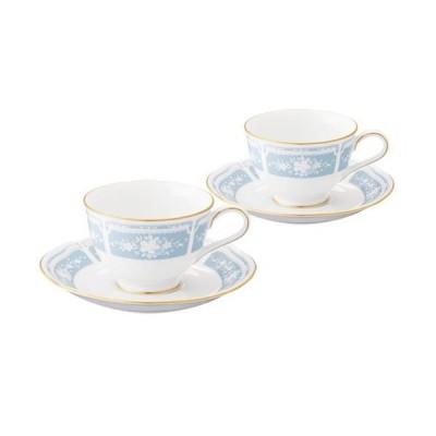 カップ&ソーサー ペアセット 食器 ブランド Noritake/ノリタケ  レースウッドゴールド ティー・コーヒー碗皿 ペア おしゃれなレース柄 ティーカップ、コーヒ