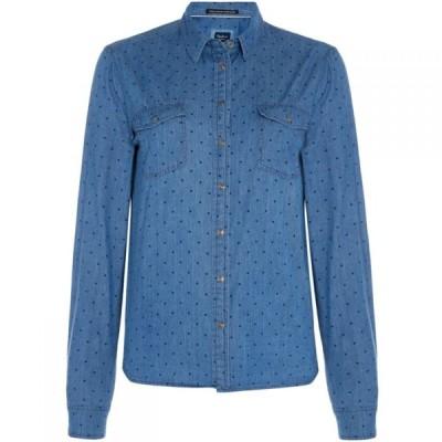ペペジーンズ Pepe Jeans レディース ブラウス・シャツ トップス Shirt Blue