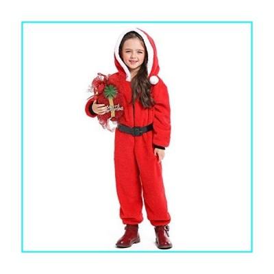 Hallowmax Cosplay Christmas Halloween Sleepwear Animal Onesie Pajamas, Santa Claus Costumes for Kids, XL