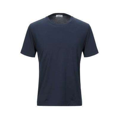 S. MORITZ T シャツ ダークブルー 46 コットン 100% T シャツ