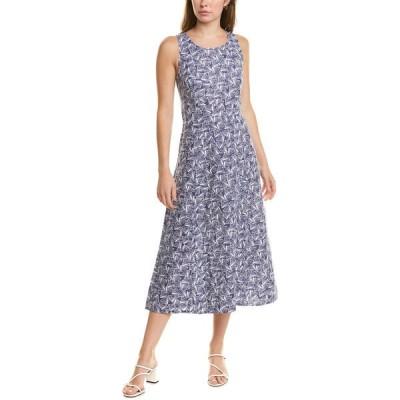 ジュールズ ワンピース トップス レディース Joules Chrissie Linen-Blend Dress blue shells