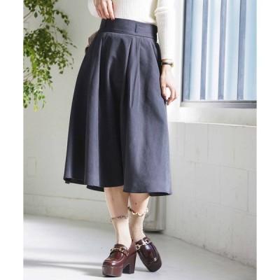 スカート WEGO/ピーチサテンタックフレアスカート