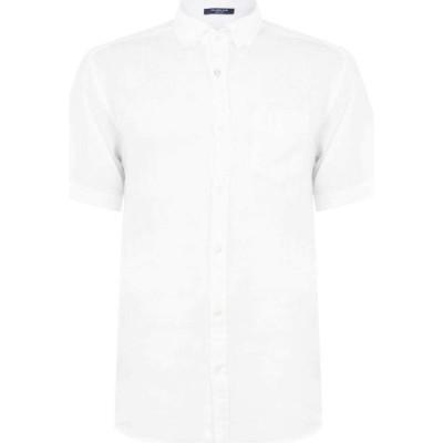 ガント Gant メンズ シャツ トップス Regular Linen Shirt White