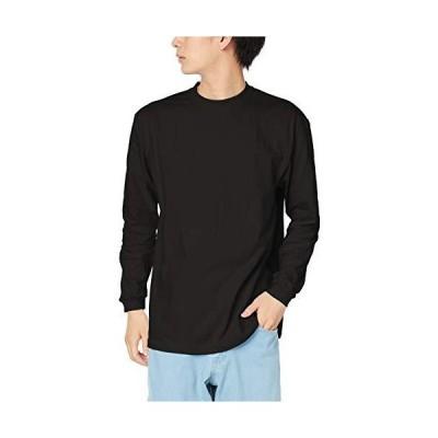 プリントスター 7.4オンス HVL スーパーヘビー 長袖 Tシャツ 00149-HVL ブラック 日本 XS (日本サイズXS相当)