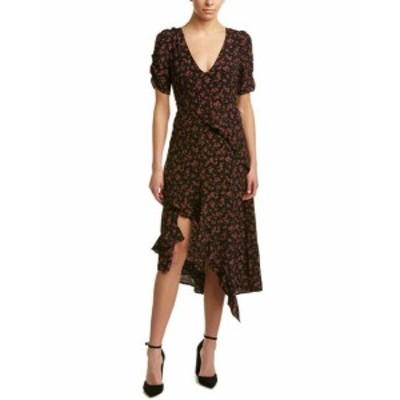 Maxi  ファッション ドレス Honey Punch Ruffled Maxi Dress S Black