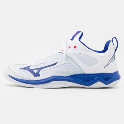 ミズノ メンズ スポーツ用品 GHOST SHADOW - Handball shoes - white/reflex blue/diva pink