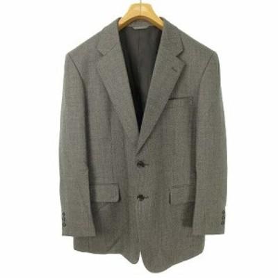 【中古】エルメネジルドゼニア Ermenegildo Zegna 生地 CLOTH シングル 2B テーラード ジャケット ブレザー 96 AB5